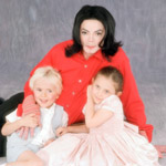 Michael Jackson with his children, Vibe, 2002