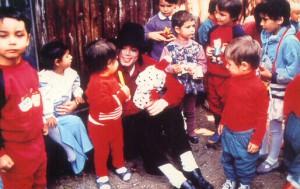 Майкл с детьми