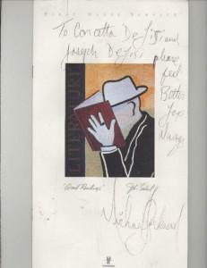 Меню первого класса, подписанное Майклом Джексоном