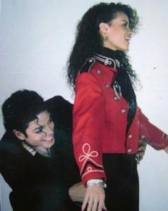 Майкл Джексон и Татьяна на съемках Leave Me Alone