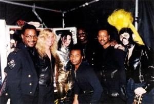 Брэд Баксер с Майклом и музыкантами тура HIStory