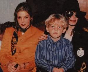 Майкл, Лиза Мари и ее сын Бэн, январь 1997, Южная Африка