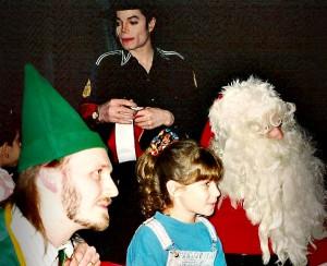 Майкл во время записи рождественской песни
