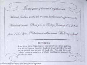 Приглашение в Неверленд после предъявления Майклу обвинений