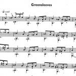 """Нотная запись """"Greensleeves"""""""
