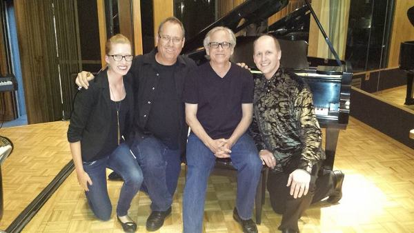 Brad Sundberg with his daughter, Steve Porcaro and Brian Vibberts