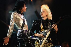 1987, Tokyo, Japan --- Michael Jackson and Jennifer Batten Performing