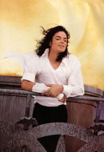 Майкл на съемках клипа
