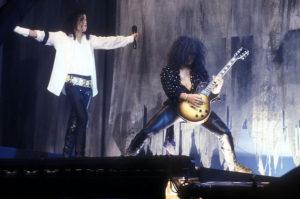 Майкл и Слэш на съемках спецпрограммы для MTV
