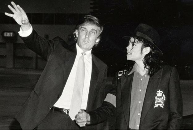 Трамп и Джексон в казино Тадж Махал, апрель 1990